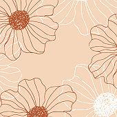 Minimalism card floral art background
