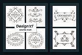 six designs of vintage ornamental frames