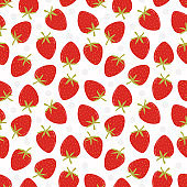Fresh strawberry seamless pattern. Sweet strawberry concept.