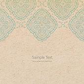 Vector ornate background with copy space on cardboard