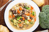 Milk stew potatoes carrot beef