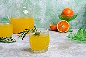 Orange drink with rosemary