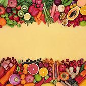 Antioxidants to Fight Free Radicals Background Border