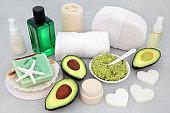 Skincare Beauty Treatment with Avocado