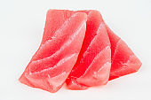 Organic Raw tuna fish slices