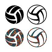 Set of four balls