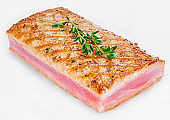 Tuna fillet grilled with herbs