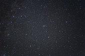 night dark sky with stars, natural background