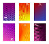 Colorful gradient background design set with a strict and minimal design in the form of geometric lines. For banners, business cards and advertising on web sites.