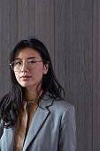 Portrait of a Successful Young Asian Businesswoman, Looking at Camera