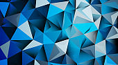 triangle pattern abstract background in blue. vector design