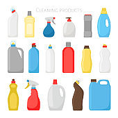 Household products bottles