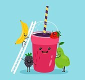 Smoothie drink character