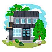 Summer cottage house