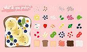 Cartoon sandwich ingredients