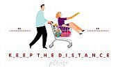 Keep the distance poster