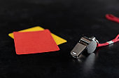 Whistle with Red And Yellow Card