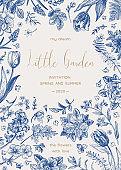 Wedding invitation. Little garden.