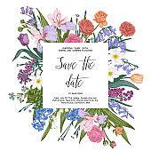 Floral vintage illustration.