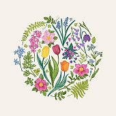 Floral round composition.