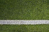 Artificial soccer grass field
