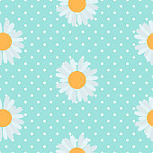 Abstract Seamless Pattern Background with Flowers. Vector Illustration