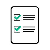 Check List Sign Flat Icon Vector Illustration