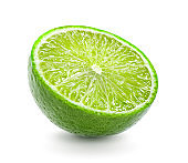 Lime cut isolated on white background
