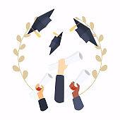 Graduation cap. Education. Flat design modern vector illustration concept.