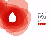 World Blood Donor Day vector background.