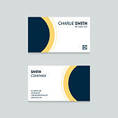 Professional modern business card template design modern minimal style