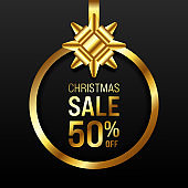 Merry Christmas sale promotion concept banner and special offer