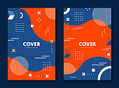 Cover design  style decorative with colorful geometric shape