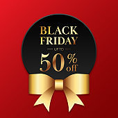 Black friday sale promotion concept banner and special offer discount