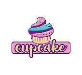 Cupcake Cream icon - stock vector