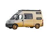 Van Side View Isolated Photo