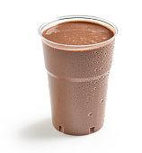 brown chocolate milkshake