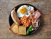 plate of english breakfast