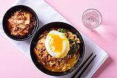 Kimchi spicy noodles soup