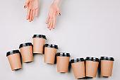 Concept of coffee addiction