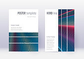 Geometric cover design template set. Red abstract
