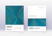 Minimalistic cover design template set. Red abstra