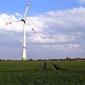 renewable energy generation - wind turbines in the landscape