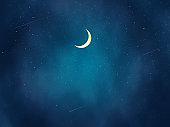 Beautiful Night landscape illustration