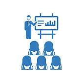 Business Presentation Icon / blue version