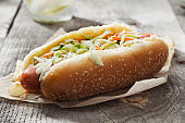 Creamy Coleslaw Hotdog with Potato Chips