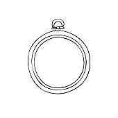 Vector hand drawn doodle sketch embroidery hoop