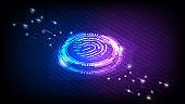 Fingerprint identity sensor
