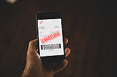 Flight ticked cancelled, mobile phone e-ticket