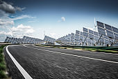 solar and wind power station